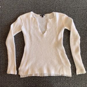 James Perse White Long sleeve Sweater